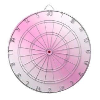 D1 Bi-Linear Gradient - White and Pink Dartboard With Darts