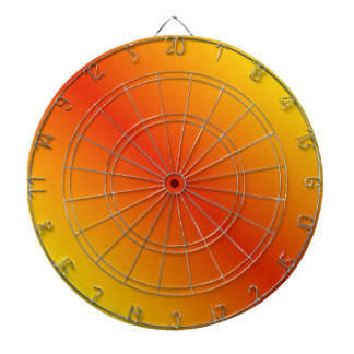 D1 Bi-Linear Gradient - Yellow to Red Dartboard With Darts