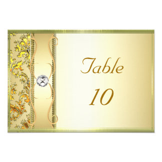 D1 Gold on Gold Damask Placement Card Personalized Announcements