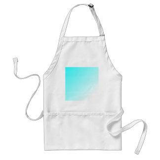 D1 Linear Gradient - Cyan to White Adult Apron