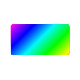 D1 Linear Gradient - Rainbow Address Label