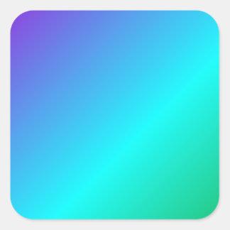 D1 Linear Gradient - Violet, Cyan, Green Square Sticker