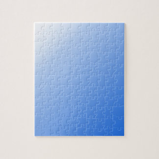 D1 Linear Gradient - White to Blue Jigsaw Puzzle