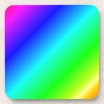D1 pendiente linear - arco iris posavasos de bebidas
