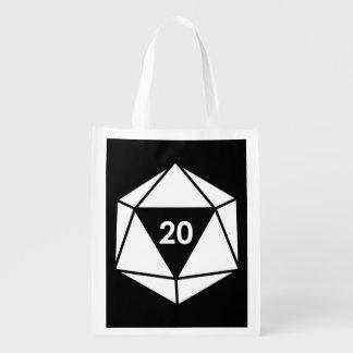 d20 bolsas de la compra