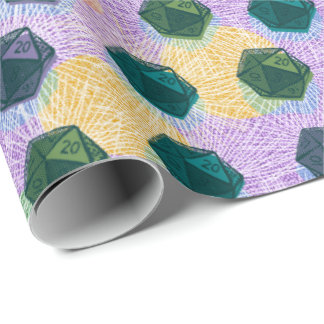D20 - Critical Hit! Wrapping Paper