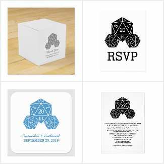 D20 Dice Wedding Collection