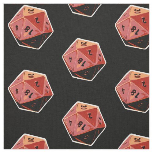 d20 Gamer Dice Art Fabric