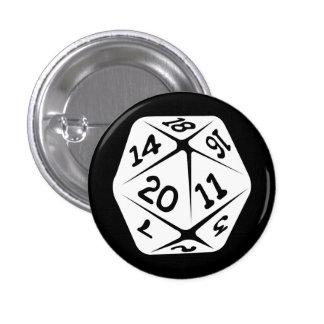 d20 geek swag 1 inch round button