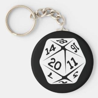d20 geek swag key chains