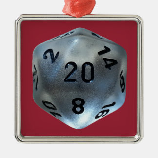 D20 METAL ORNAMENT