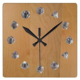 D20 Set Square Wall Clock