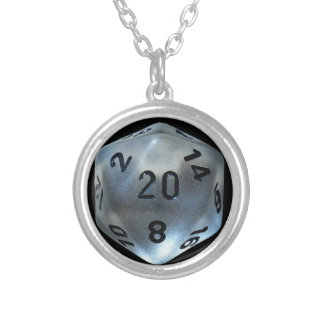 D20 SILVER PLATED NECKLACE