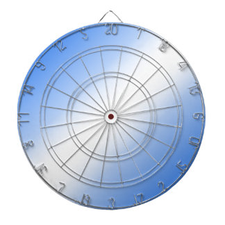 D2 Bi-Linear Gradient - Blue and White Dartboard With Darts