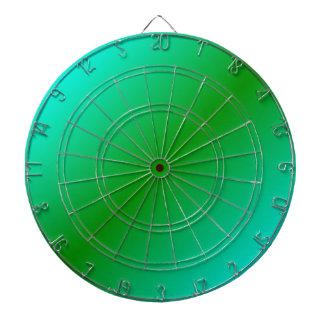D2 Bi-Linear Gradient - Cyan and Green Dartboard