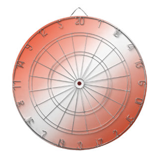 D2 Bi-Linear Gradient - Red and White Dartboards