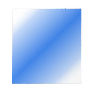 D2 Bi-Linear Gradient - White and Blue Notepad