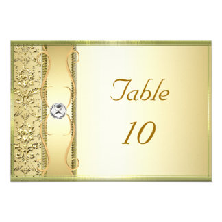 D2 Gold on Gold Damask Placement Card Custom Invites
