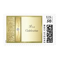 D2 Gold on Gold Damask Postage Stamp