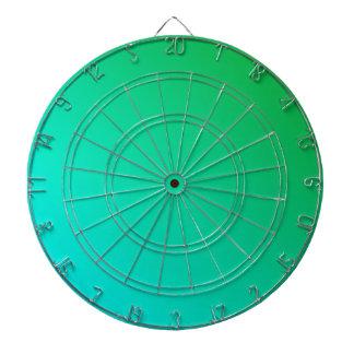 D2 Linear Gradient - Green to Cyan Dartboard