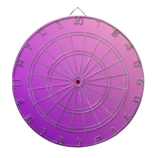 D2 Linear Gradient - Pink to Violet Dart Board