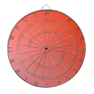 D2 Linear Gradient - Red to Pink Dart Board