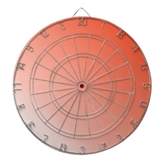 D2 Linear Gradient - Red to White Dart Board