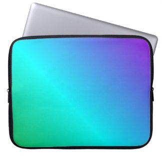D2 Linear Gradient - Violet, Cyan, Green Laptop Sleeve