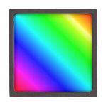 D2 pendiente linear - arco iris caja de joyas de calidad