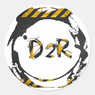 D2R logo Classic Round Sticker