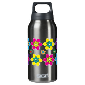 :d3 Colorful Flower Blossoms Insulated Water Bottle