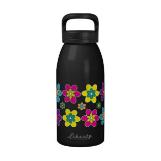 d3 Colorful Flower Blossoms Water Bottles