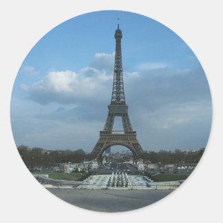 D3ia de la torre Eiffel Etiquetas Redondas