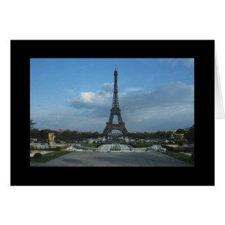 D3ia de la torre Eiffel Felicitacion