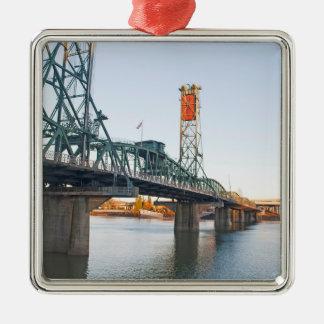 D3ia de Portland del puente de Hawthorne Adorno Navideño Cuadrado De Metal