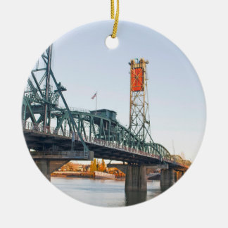D3ia de Portland del puente de Hawthorne Adorno Navideño Redondo De Cerámica