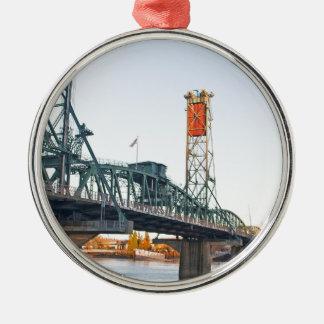 D3ia de Portland del puente de Hawthorne Adorno Navideño Redondo De Metal
