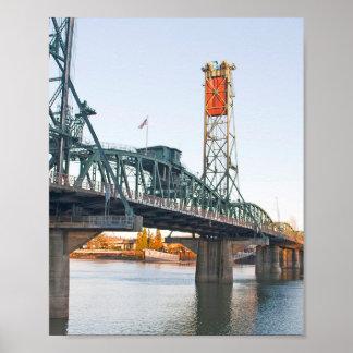 D3ia de Portland del puente de Hawthorne Póster