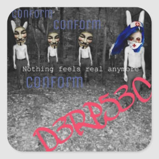D3Rp CONFORM Square Sticker