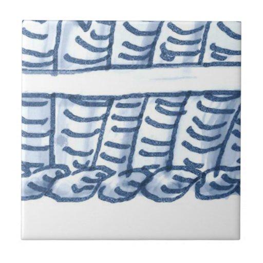 D4 delft basket mural tile d4 zazzle for Delft tile mural