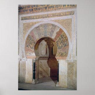 d4: Mezquita: Entrada al mihrab, c.786 Póster