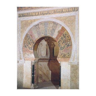 d4:Mezquita: Entrance to the Mihrab, c.786 Canvas Print