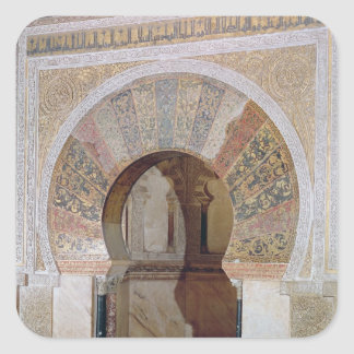 d4:Mezquita: Entrance to the Mihrab, c.786 Square Sticker