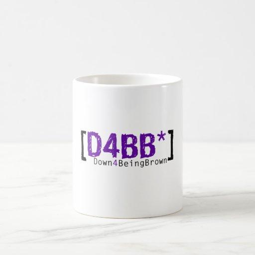 D4BB 15 onzas. Taza con el logotipo púrpura