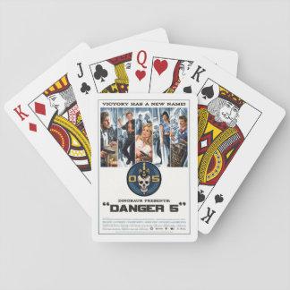 D5 tarjetas que juegan de la serie 1 naipes