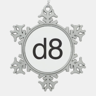 d8.ai adorno de peltre en forma de copo de nieve