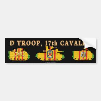 D/17th Cavalry VSR Armored Fighting Vehicles Bumper Sticker