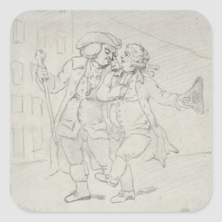 D. 755 'Picturesque Beauties of Boswell' Square Sticker
