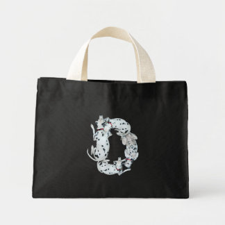 D alphabet mini tote bag