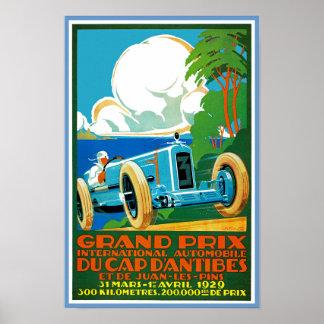 d Antibes de Grand Prix Du Cap Poster
